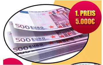 5000 euro gewinnen