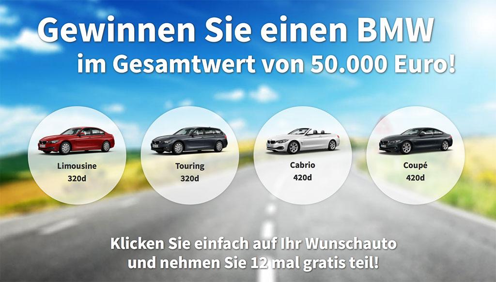 BMW gewinnen 50000Euro