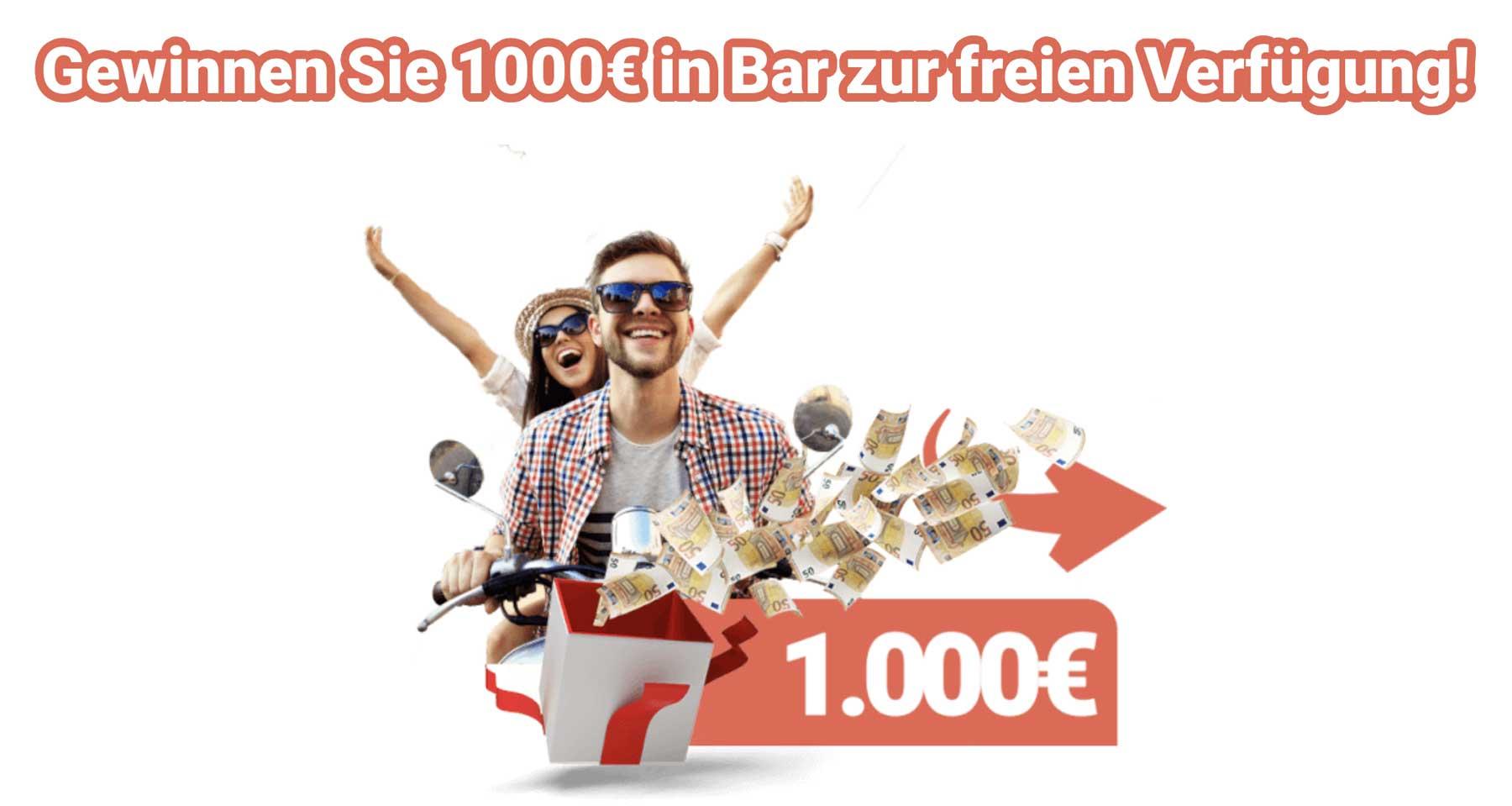 1000-Euro-Geld-Gewinnspiel