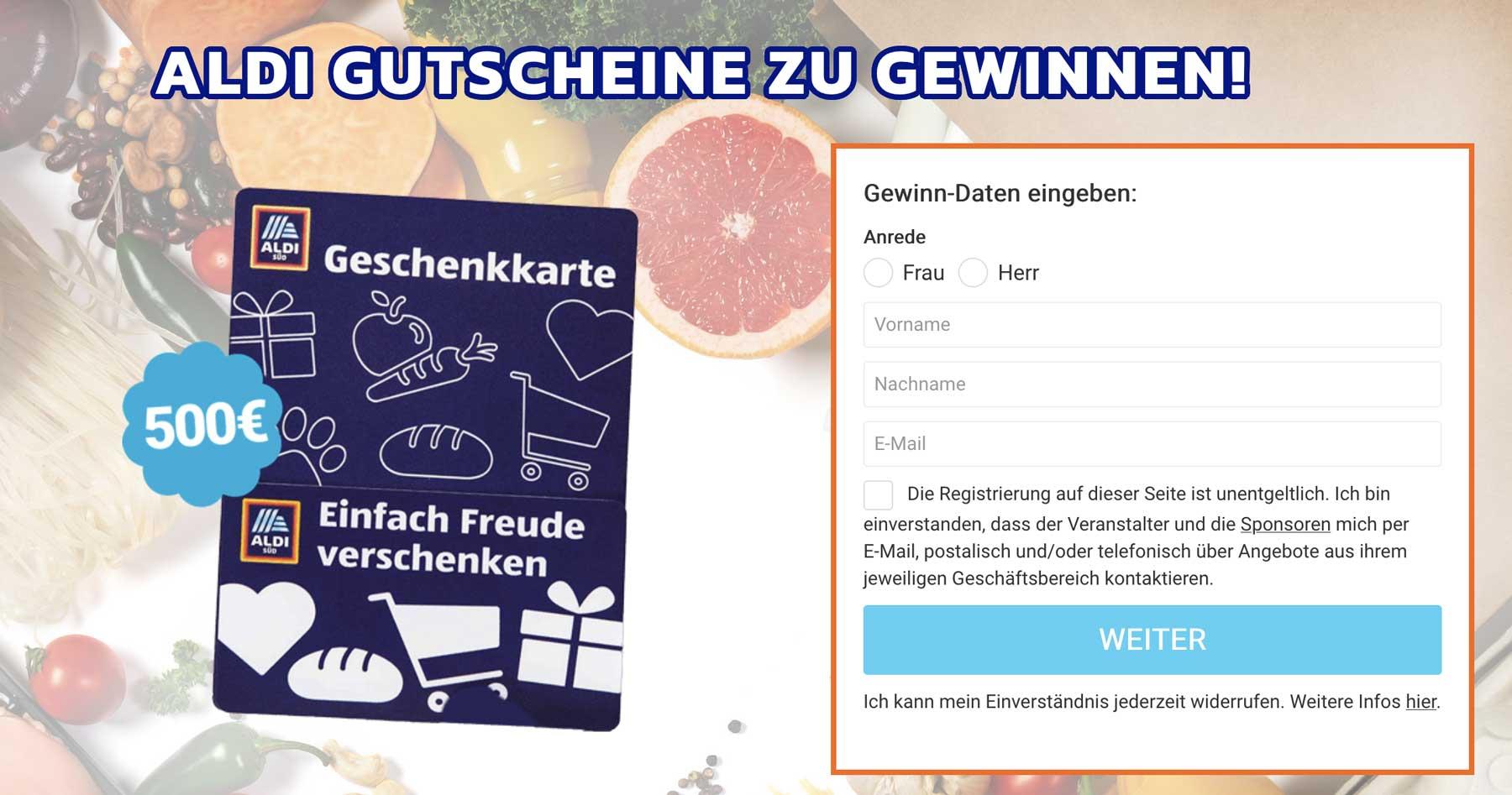 ALDI-Gutschein-Gewinnspiel