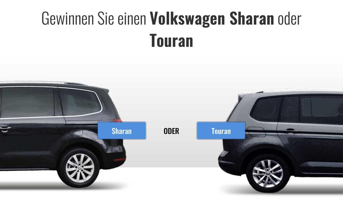 Gewinnen Sie einen Volkswagen Sharan oder Touran