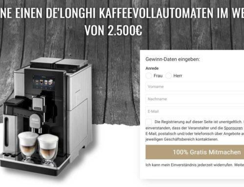 De Longhi Kaffeevollautomaten Gewinnspiel