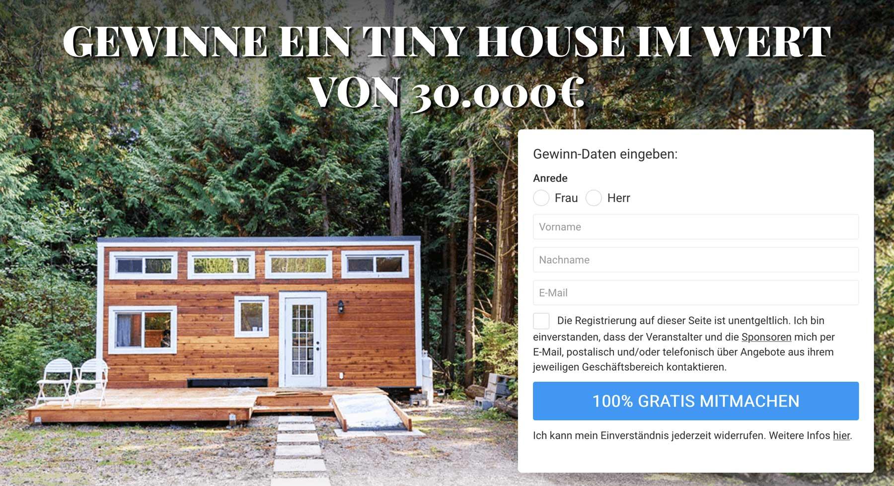 Tiny-House-Gewinnspiel