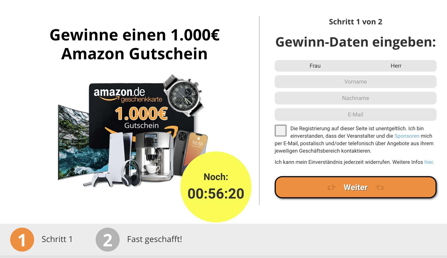 Amazon-Gewinnspiel